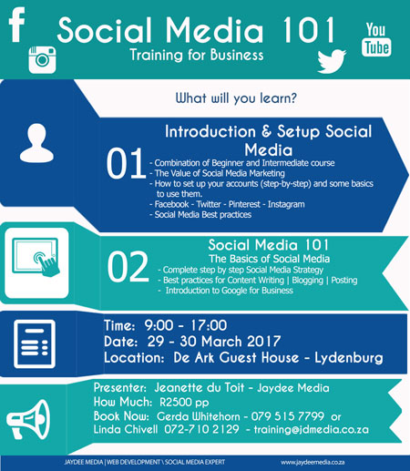 2 Day Social Media 101 Workshop