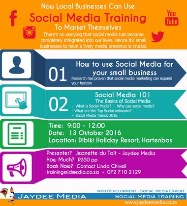 How to use Social Media for your Small business - Training Seminar